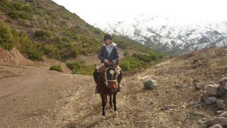 Horseback winter rides in the Andes